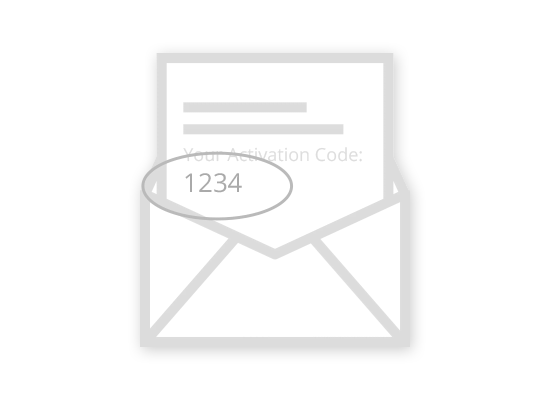 Activation Code from the mail